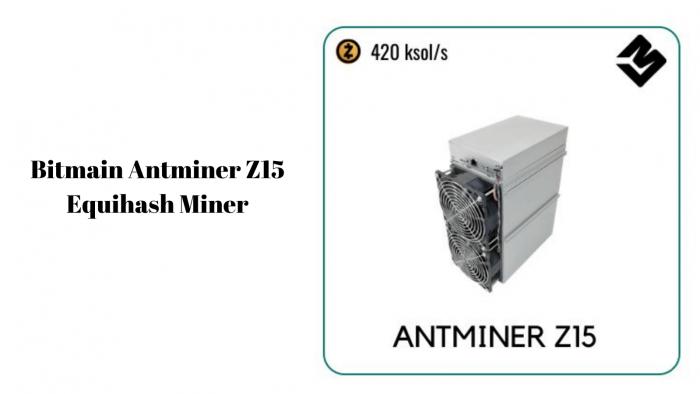 Bitmain Antminer Z15 Equihash Miner